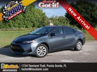 Boasts 36 Highway MPG and 28 City MPG! This Toyota