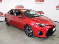 Certified. Barcelona Red 2017 Toyota Corolla SE FWD CVT