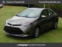 This 2017 Toyota Corolla 4dr LE CVT Automatic features