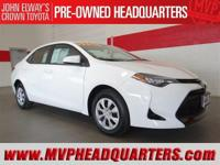 2017 Toyota Corolla L with 700 miles on the clock! Save