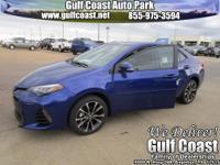 New Price! Blue Crush Metallic 2017 Toyota Corolla SE