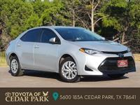 Clean CARFAX. Certified. Silver 2017 Toyota Corolla LE