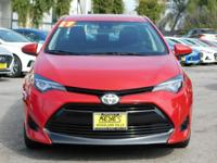 Options:  2017 Toyota Corolla Le|Red/Black|V4 1.8 L