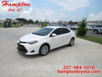 This outstanding example of a 2017 Toyota Corolla LE is