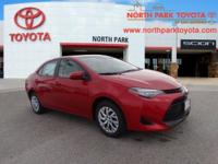 2017 Toyota Corolla LE 36/28 Highway/City MPGEmail us