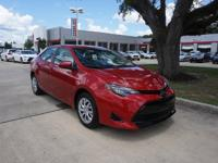 CARFAX One-Owner. Clean CARFAX. Red 2017 Toyota Corolla