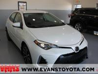 New Price! Clean CARFAX. WHITE 2017 Toyota Corolla SE