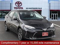Certified. Black Sand Pearl 2017 Toyota Corolla SE FWD
