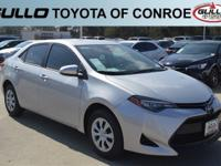Silver 2017 Toyota Corolla L 36/28 Highway/City