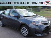 Gray 2017 Toyota Corolla LE 36/28 Highway/City MPG