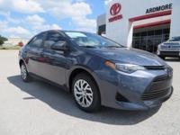 2017 Toyota Corolla LE 4D Sedan Slate Metallic 36/28