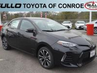 Black 2017 Toyota Corolla SE 35/28 Highway/City