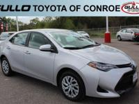 Silver 2017 Toyota Corolla LE 36/28 Highway/City