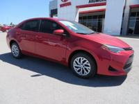 2017 Toyota Corolla LE 4D Sedan Red 36/28 Highway/City