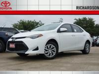 2017 Toyota Corolla LE 36/28 Highway/City MPGAwards:  *