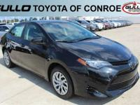Black 2017 Toyota Corolla LE 36/28 Highway/City MPG