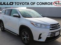 White 2017 Toyota Highlander LEAwards:  * 2017 IIHS Top