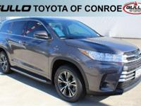 Gray 2017 Toyota Highlander LE 27/20 Highway/City