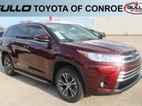 Red 2017 Toyota Highlander LE Plus 27/21 Highway/City