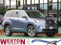 2017 Toyota Highlander Limited Blue Fresh Oil Change,