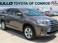 Gray 2017 Toyota Highlander Limited 27/21 Highway/City