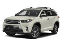 Clean CARFAX. 2017 Toyota Highlander XLE AWD 8-Speed