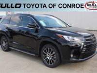 Black 2017 Toyota Highlander SE 27/21 Highway/City MPG