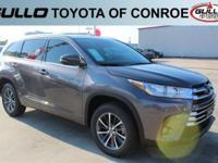 Gray 2017 Toyota Highlander XLE 27/21 Highway/City MPG