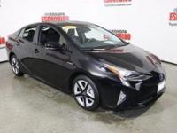 Certified. Black 2017 Toyota Prius Four Touring FWD CVT