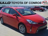 Red 2017 Toyota Prius v Five 39/43 Highway/City MPG