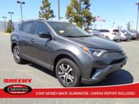 This Toyota CERTIFIED and ONE-OWNER 2017 Rav4 LE AWD