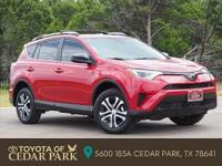 Clean CARFAX. Certified. Red 2017 Toyota RAV4 LE 4D