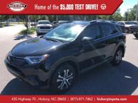 Black 2017 Toyota RAV4 LE AWD 6-Speed Automatic 2.5L