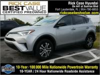 Recent Arrival! Clean CARFAX. Silver 2017 Toyota RAV4