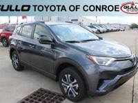 Gray 2017 Toyota RAV4 LE 31/24 Highway/City MPGLet the