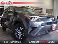 2017 Toyota RAV4 LE Gray Clean CARFAX.     Odometer is