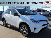 White 2017 Toyota RAV4 LE 30/23 Highway/City MPG