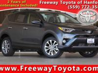 Clean CARFAX. Gray 2017 Toyota RAV4 Limited AWD 6-Speed
