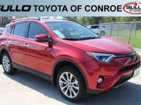 Red 2017 Toyota RAV4 Limited 29/22 Highway/City