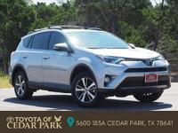 Clean CARFAX. Certified. Silver 2017 Toyota RAV4 XLE 4D