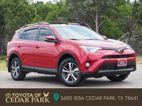 Clean CARFAX. Certified. Red 2017 Toyota RAV4 XLE 4D