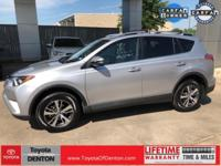 CARFAX One-Owner. Clean CARFAX. Silver 2017 Toyota RAV4