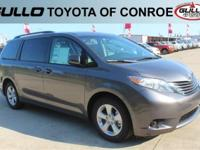 Gray 2017 Toyota Sienna LE 27/19 Highway/City MPG