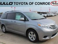 Silver 2017 Toyota Sienna LE 27/19 Highway/City MPG