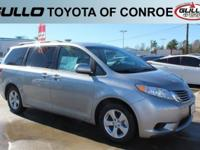 Silver 2017 Toyota Sienna LE 27/19 Highway/City MPGLet