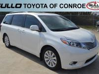 White 2017 Toyota Sienna Limited 27/19 Highway/City