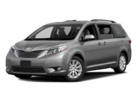 *ONE AT THIS PRICE* and previous rental. Sienna XLE 8