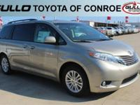 Gold 2017 Toyota Sienna XLE 27/19 Highway/City MPG