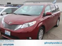 2017 Toyota Sienna XLE 8-Speed Automatic Red Clean