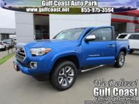Blazing Blue Pearl 2017 Toyota Tacoma Limited V6 4WD